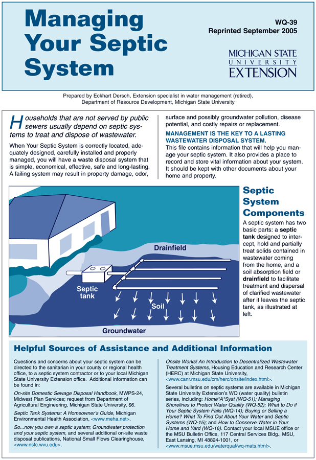 Managing a Septic System